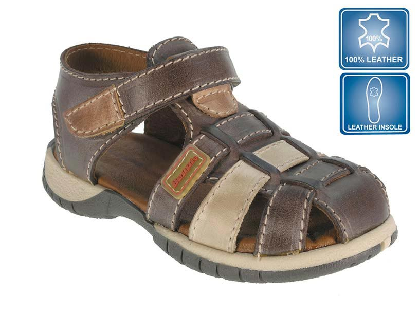 boys leather sandals, sandals, loar shoes