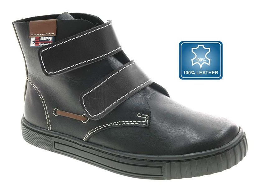 beppi boys black leather ankle boots loar shoes
