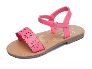 Pink summer sandals for toddler girl