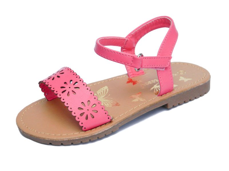 Pink summer sandals for toddler girl