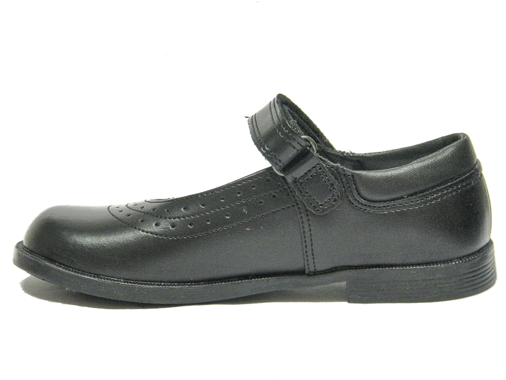 toughees kate school shoes black leather loar shoes