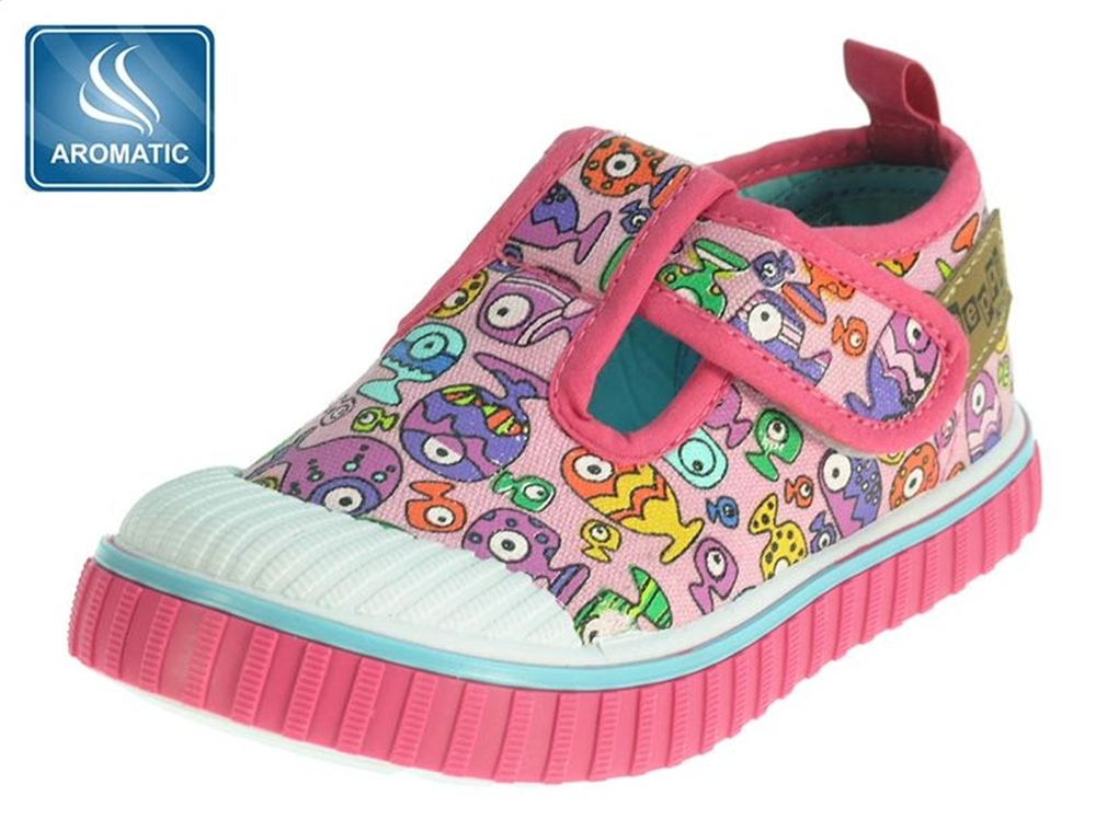 oddler-baby-girls-pink-infants-velcro-canvas-trainers-casual-shoes-plimsolls-pumps-size-3-5-4-4-5-5-5-6-7-main