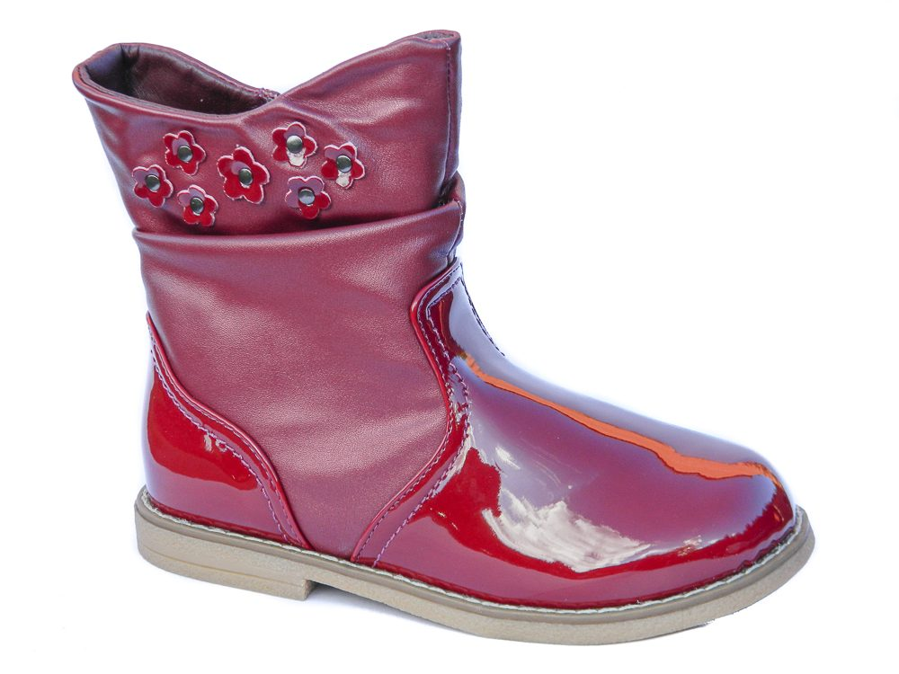 chatterbox-lorna-girls-black-pink-ankle-boots-winter-patent-toddler-infant-kids-shoes-size-6-7-8-9-10-11-12-main