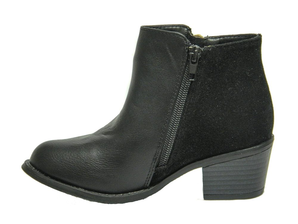 Miss Riot Girls Black Faux Leather