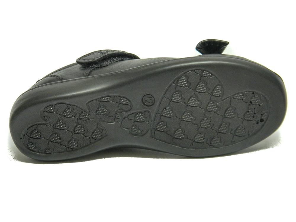 B.M.S Girls Black Leather School Shoes  d231b441c