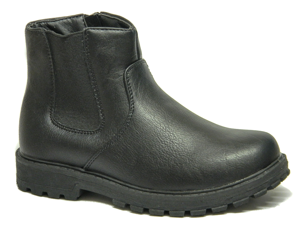 chatterbox boys black leather chelsea ankle boots loar shoes
