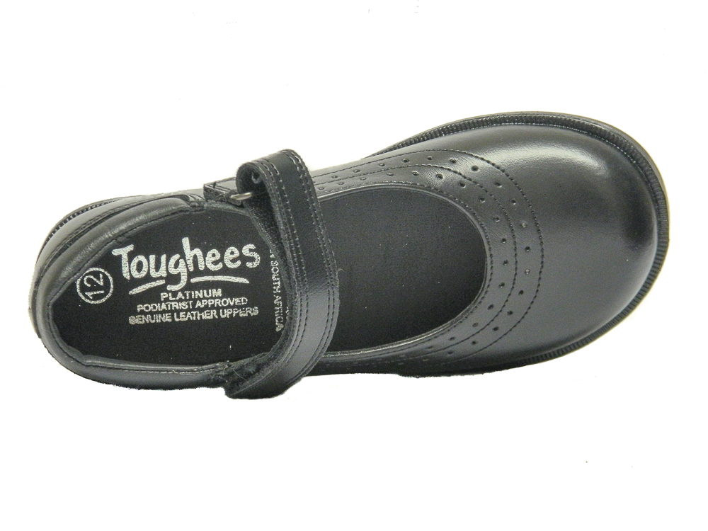 on wholesale shopping 100% authentic Toughees Kate Girls School Shoes Black Leather | Loar Shoes