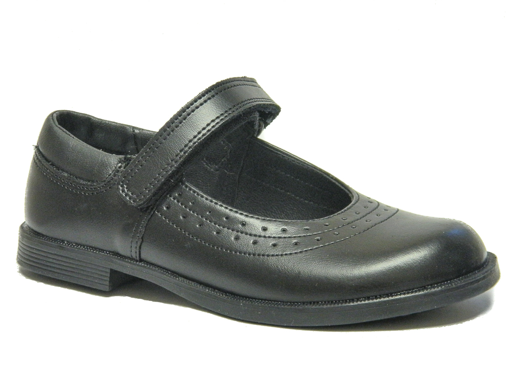 Toughees Kate Girls School Shoes Black Leather  177089bf1
