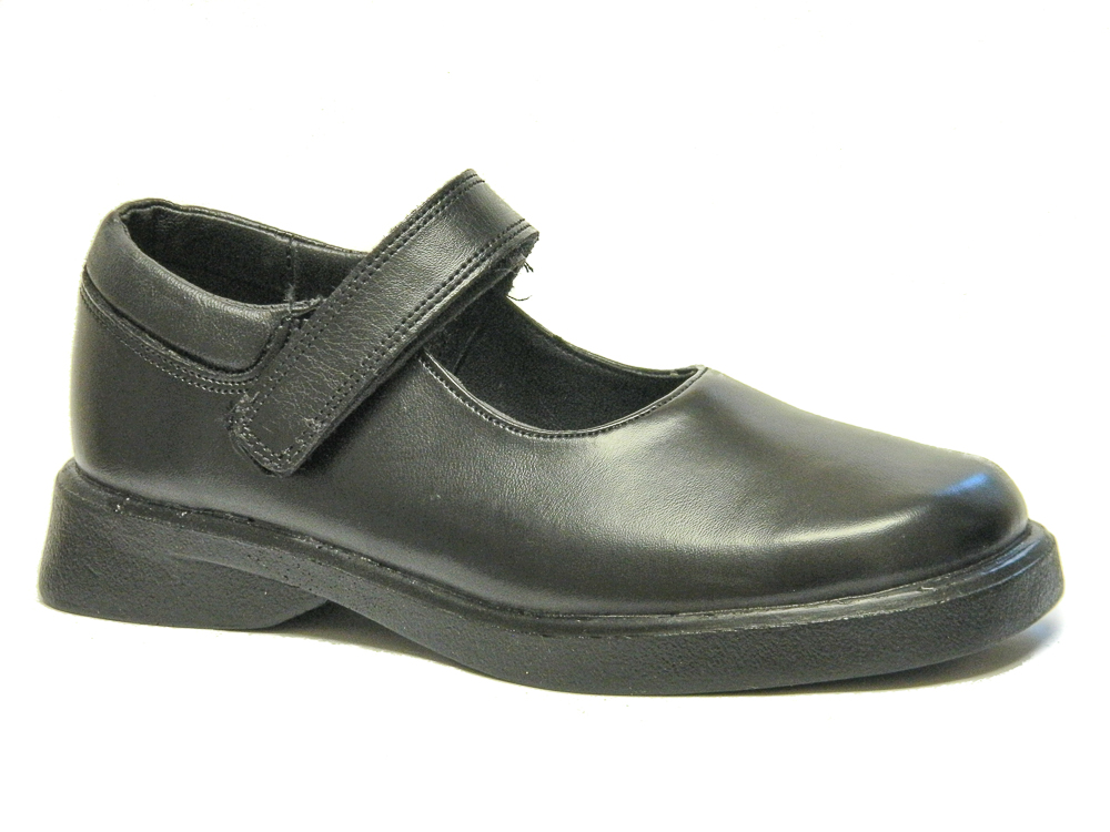 Black Leather School Shoes Size