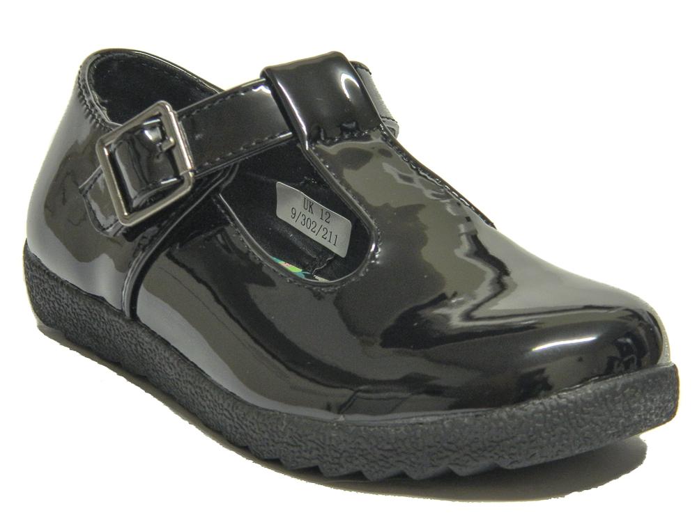 Miss Riot Girls Black Patent Formal School Shoes  Loar Shoes-3387