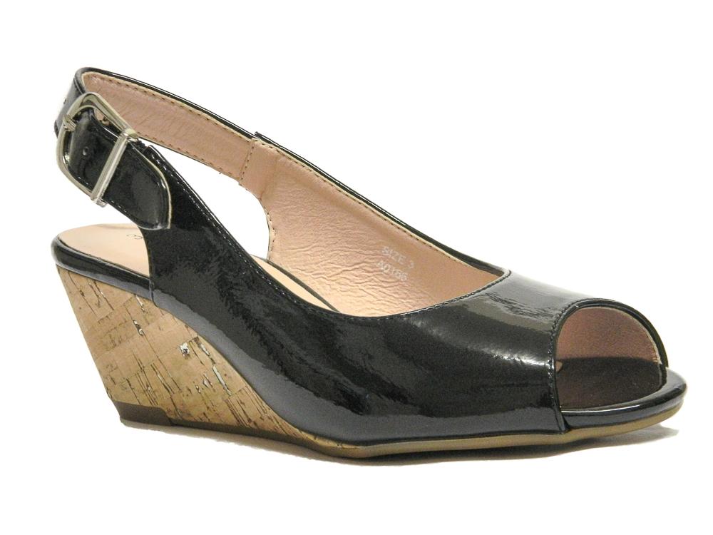 24ee09fc74545d Comfort Plus Women Wide fit Wedge Sandals UK Size 3 - 8 | Loar Shoes