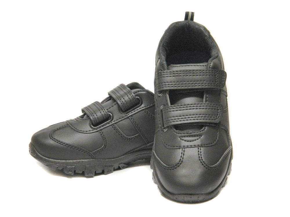 Chatterbox Boys Black School Trainers Shoes  e216519fe2f5