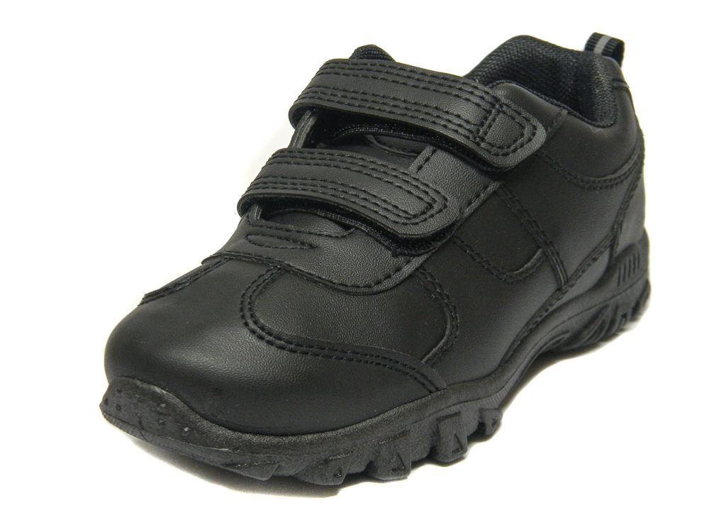 Chatterbox Boys Black School Trainers Shoes  0816f12bd