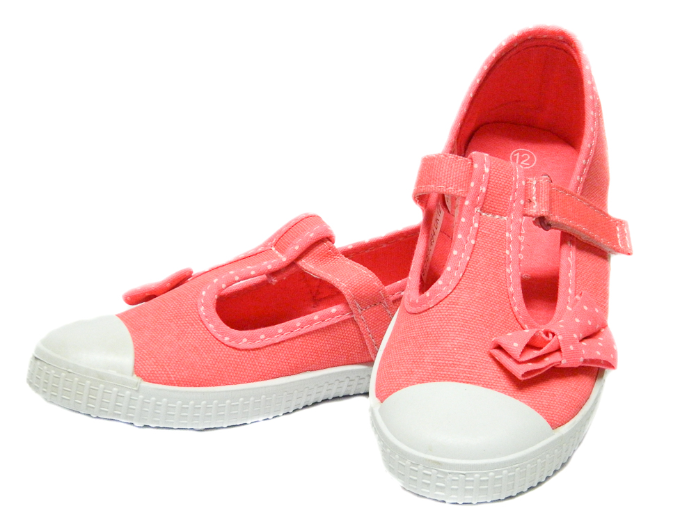 Infant GIRLS Pink TRAINERS Pumps Canvas Toddler Baby Shoes Plimsolls Size 4 5 6 7 8 9 10 11 12