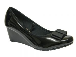 Arvada Women Ladies Wedge Shoes UK Size 3 4 5 6 7 8 Black Patent Colour