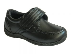 new-infant-boys-toddler-black-formal-wedding-school-shoes-velcro-fastening-kids-size-4 5 6 7 8 9 10 11 12 13 Chatterbox Shoes